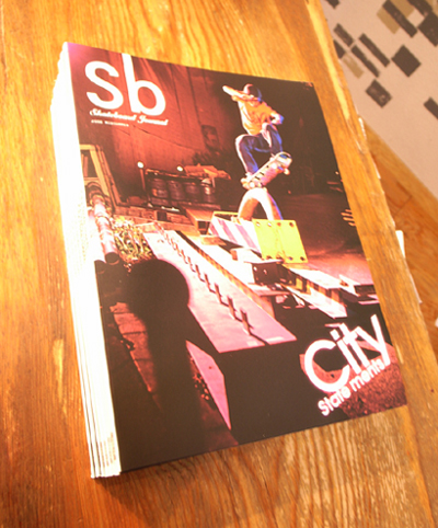 Sb skateboard journal 入荷!