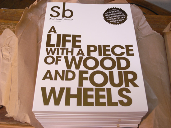 Sb skateboard journal 2010 入荷!!