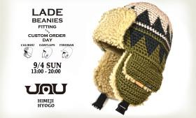 LADE beanie Fitting & Custom Order Day – 9/4