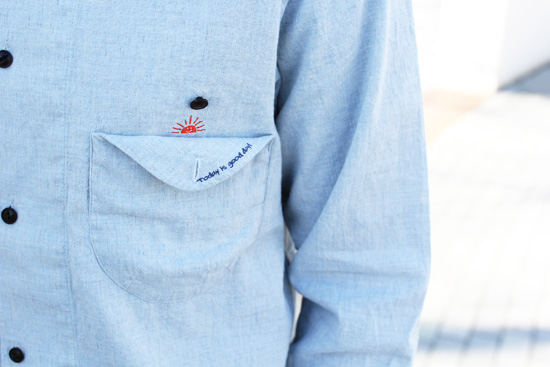 RULEZPEEPS (ルールズピープス)  ORGANIC COTTON LINEN GOODAY SHIRT