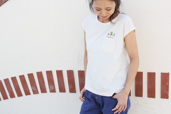 RULEZPEEPS (ルールズピープス)  ORGANIC COTTON NYAN TEE