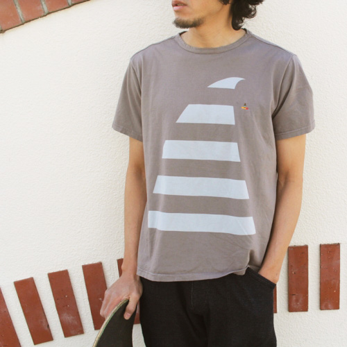 RULEZPEEPS (ルールズピープス)  ORGANIC COTTON BIG WAVE CHALLENGE TEE