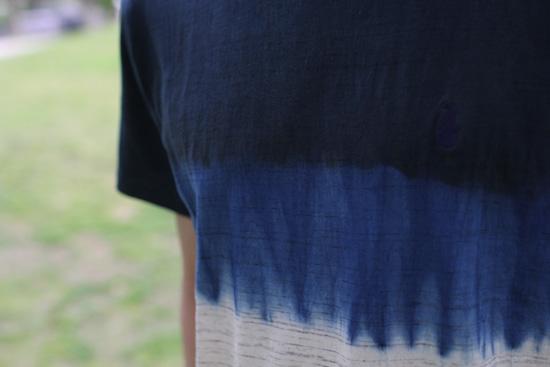 DEVADURGA (デヴァドゥルガ) A-SAND CUT SEW 藍染め Tシャツ