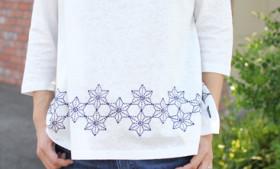 GOHEMPレディース麻柄刺繍