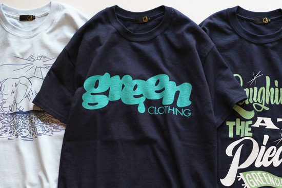 GREENCLOTHING (グリーンクロージング) 2017SUMMER MEN'S LOGO TEE