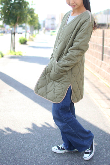 GOHEMP (ゴーヘンプ) LADY'S ARMY QUILT COAT