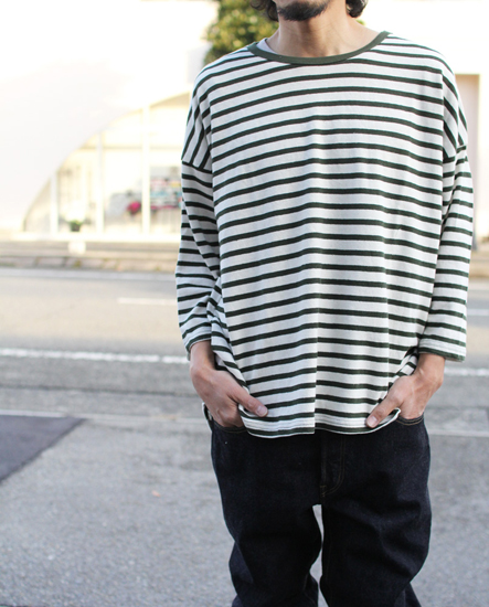 GOHEMP (ゴーヘンプ) LADY'S H/C BORDER ROUND LOOSE TEE