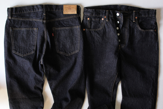 GOWEST CLASSIC TAPERED DENIM PANTS