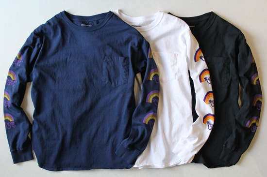 PIG&ROOSTER RAINBOW DRIVE-IN LONGSLEEVE T