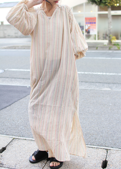 KiiRA (キーラ) 2018S/S SMOCKING STRIPE OP ki-3218
