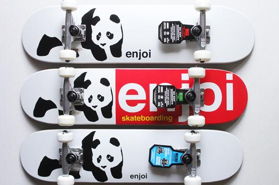 ENJOI (エンジョイ) 子供用コンプリートデッキ WHITEY PANDA