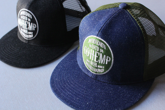 GOHEMP (ゴーヘンプ) LOGO MESH CAP