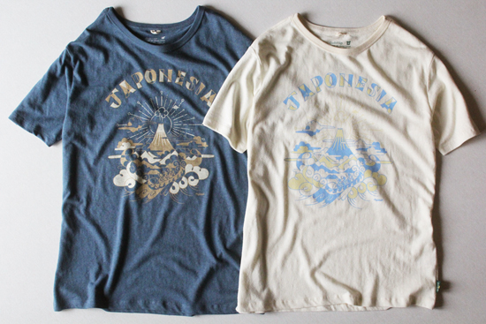 "GOHEMP (ゴーヘンプ) MEN'S ""JAPONESIA"" by Gravityfree BASIC S/SL TEE"