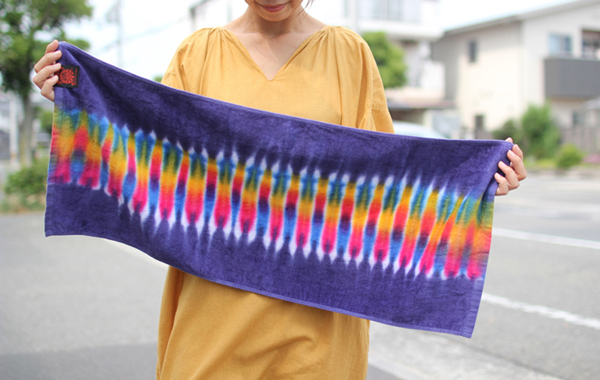 JAVARA ( ジャバラ ) タイダイ染めフェイスタオル TIE DYE FACE TOWEL