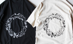 LOOP HOLE ( ループホール ) Tシャツ GLEN FOX GRAPHIC TEE