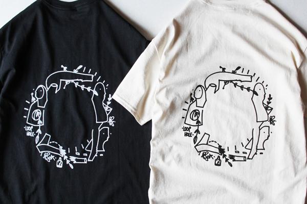 LOOP HOLE ( ループホール ) Tシャツ GLEN FOX GRAPHIC TEE