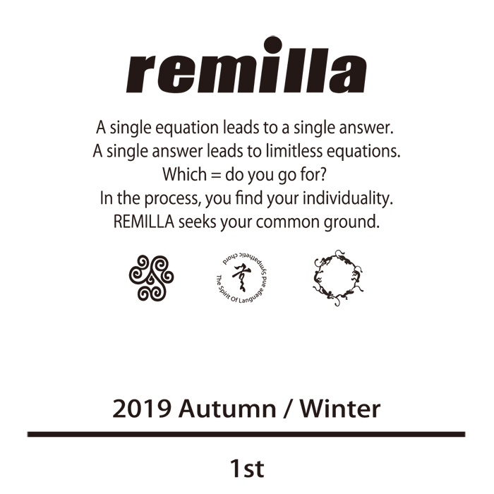 remilla 2019aw先行予約開始致しました!!