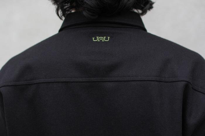 GREENCLOTHING ( グリーンクロージング ) × JAU ( ジャウー ) WOOL FLANNEL SHIRTS LIMITED EDITION ( BLACK×GREEN刺繍 )