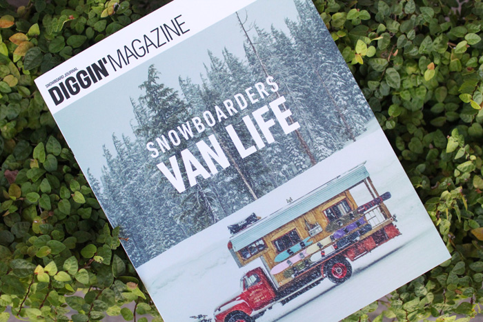 「DIGGIN'MAGAZINE -SPECIAL ISSUE- SNOWBOADERS VAN LIFE」 入荷!