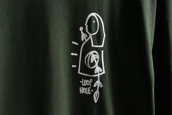 LOOPHOLE WHEELS ( ループホール ) ロンTEE GLEN FOX L/S TEE