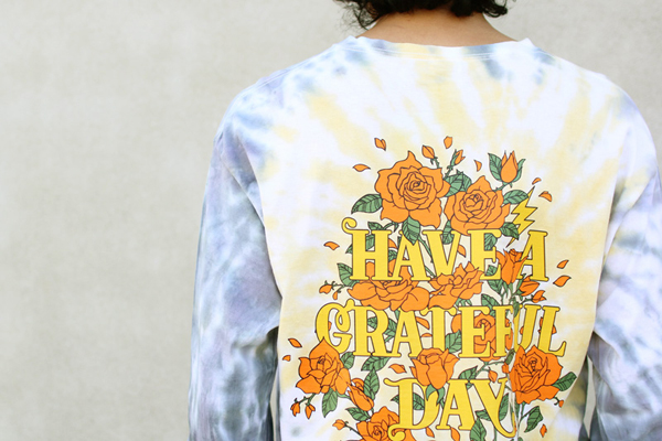 GOWEST (ゴーウエスト) ロンTEE MEN'S GRATEFUL DAY L/SL T-SHIRTS ( YELLOW ) GWC1004HGD