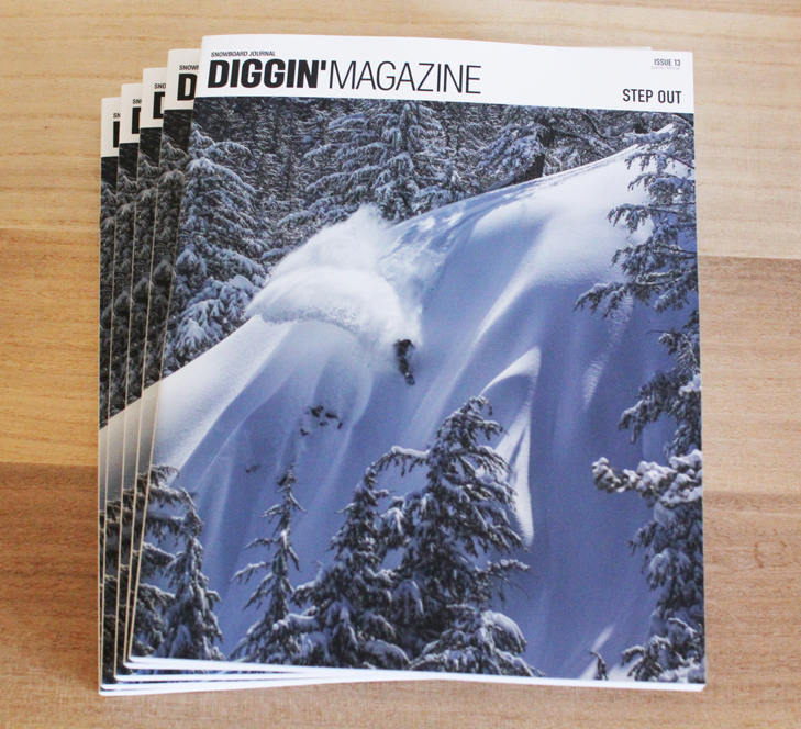 「DIGGIN'MAGAZINE ISSUE13 STEP OUT」スノーボード雑誌