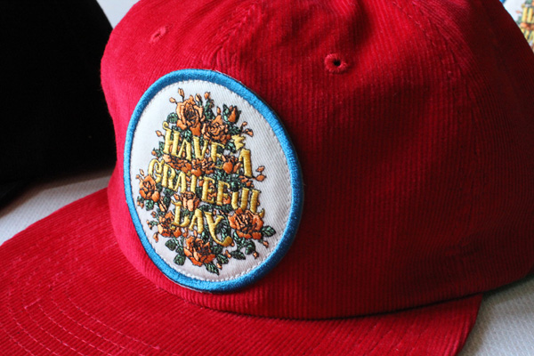 GOWEST ( ゴーウエスト ) キャップ GRATEFUL DAY CORDUROY CAP / SOUVENIR SERIES ( RED ) GWG4006HGD