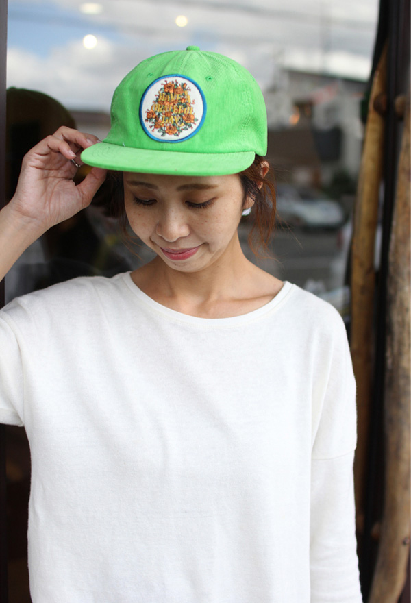 GOWEST ( ゴーウエスト ) キャップ GRATEFUL DAY CORDUROY CAP / SOUVENIR SERIES ( KELLY GREEN ) GWG4006HGD