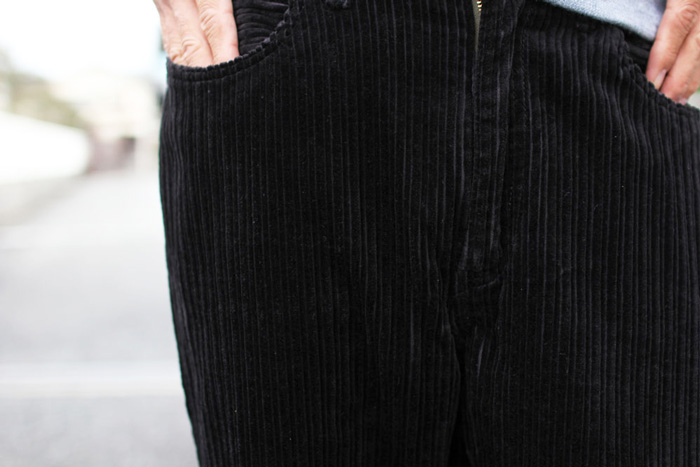 GOWEST ( ゴーウエスト ) パンツ MEN'S LOOSE TAPERED PANTS / HIGH & LOW AIR CORDUROY GWP1128OCA