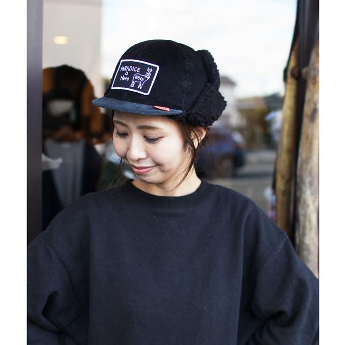 KM4K ( カモシカ ) キャプ CAP 6 ( BLACK/GRAY )