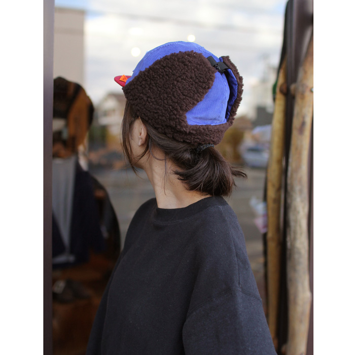 KM4K ( カモシカ ) キャプ CAP 6 ( BLUE/RED )