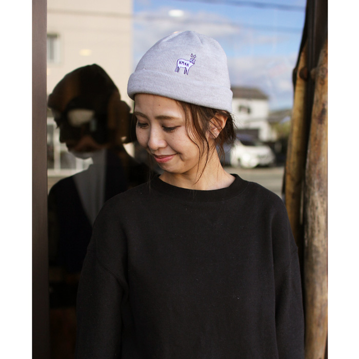 KM4K ( カモシカ ) ビーニー TEAM MANAGER BEANIE 6 ( GRAY )