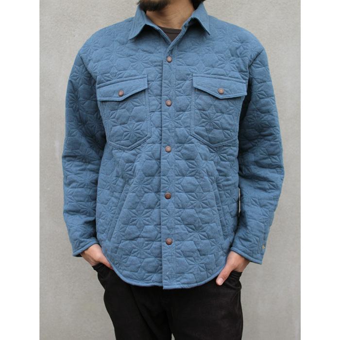 GOHEMP ( ゴーヘンプ ) ジャケット MEN'S ASAGARA QUILT JACKET ( NIAGARA BLUE )