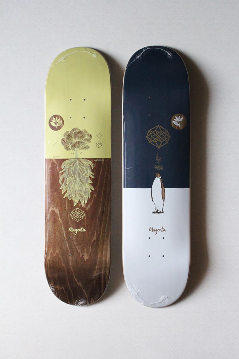 MAGENTA SKATEBOARDS ( マゼンタスケートボード ) デッキ MEDITATION SERIES