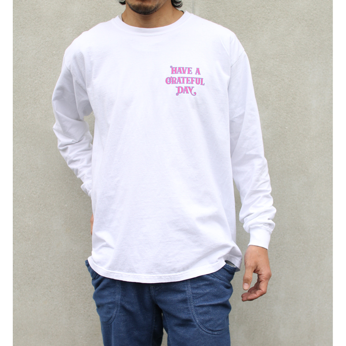GOWEST ( ゴーウエスト ) ロンTEE MEN'S GRATEFUL DAY L/SL T-SHIRTS ROSE