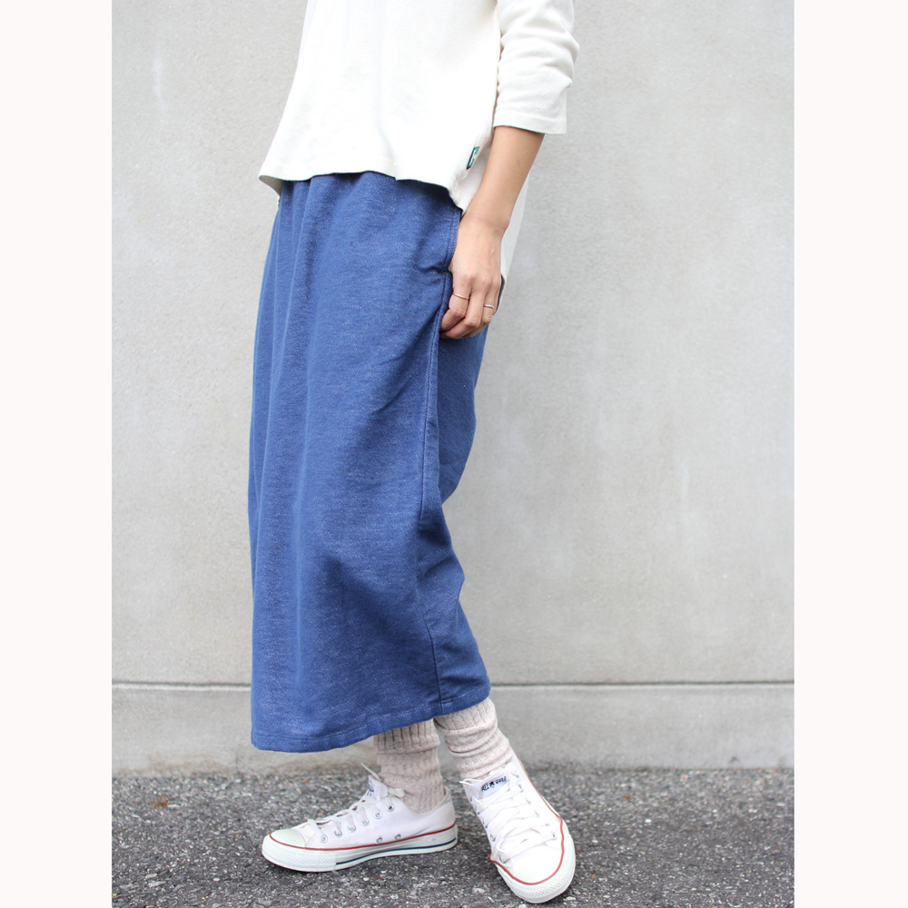 GOHEMP ( ゴーヘンプ ) パンツ LADY'S WRAP CULOTTE PANTS ( BLUE ) GHP8070PLD