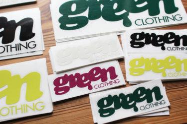 GREENCLOTHING ( グリーンクロージング ) 2020 ステッカー 入荷